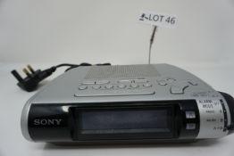 RRP £89 Sony ICF-C253L Clock radio with digital wavebands