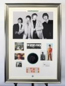 The Beatles Unique Presentation With Original Signatures