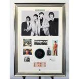 The Beatles Unique Presentation With Original Signatures
