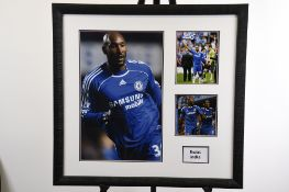 Framed Presentation of Chelsea Footballer Nicolas Anelka.