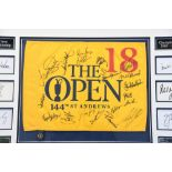 Signed 144th St. Andrews Open Flag