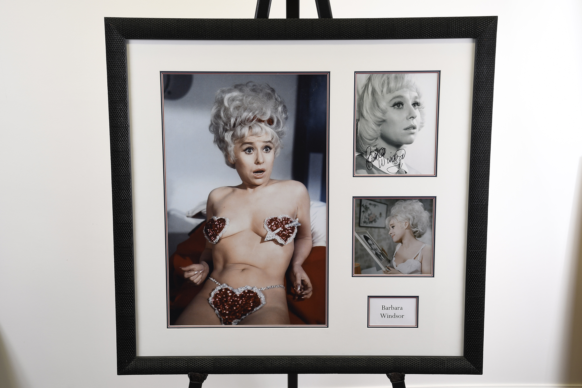 Barbara Windsor Signed Framed Memorabilia