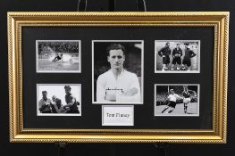 Framed Signed Tom Finney Memorabilia