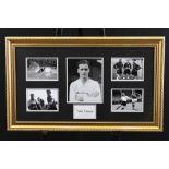 Framed Signed Tom Finney Memorabilia