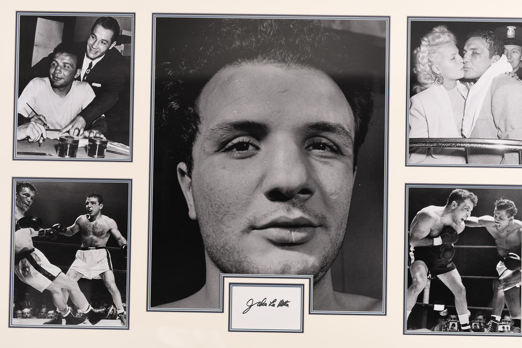 Jake Lamotta Framed Signature Presentation - Image 2 of 4