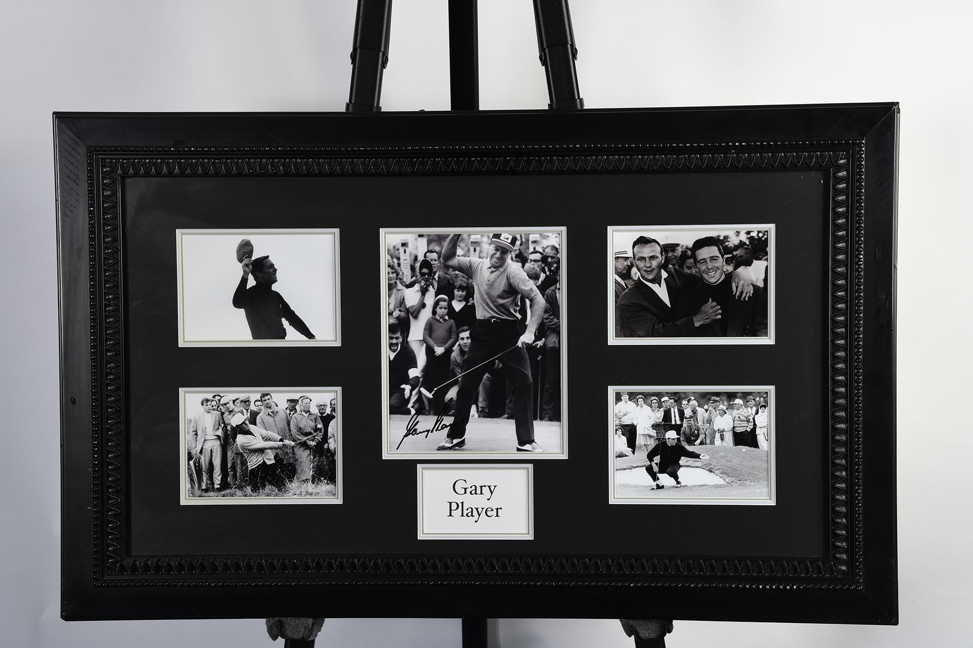 Gary Player Framed Memorabilia