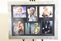 Lady Gaga Signed Photo Presentation