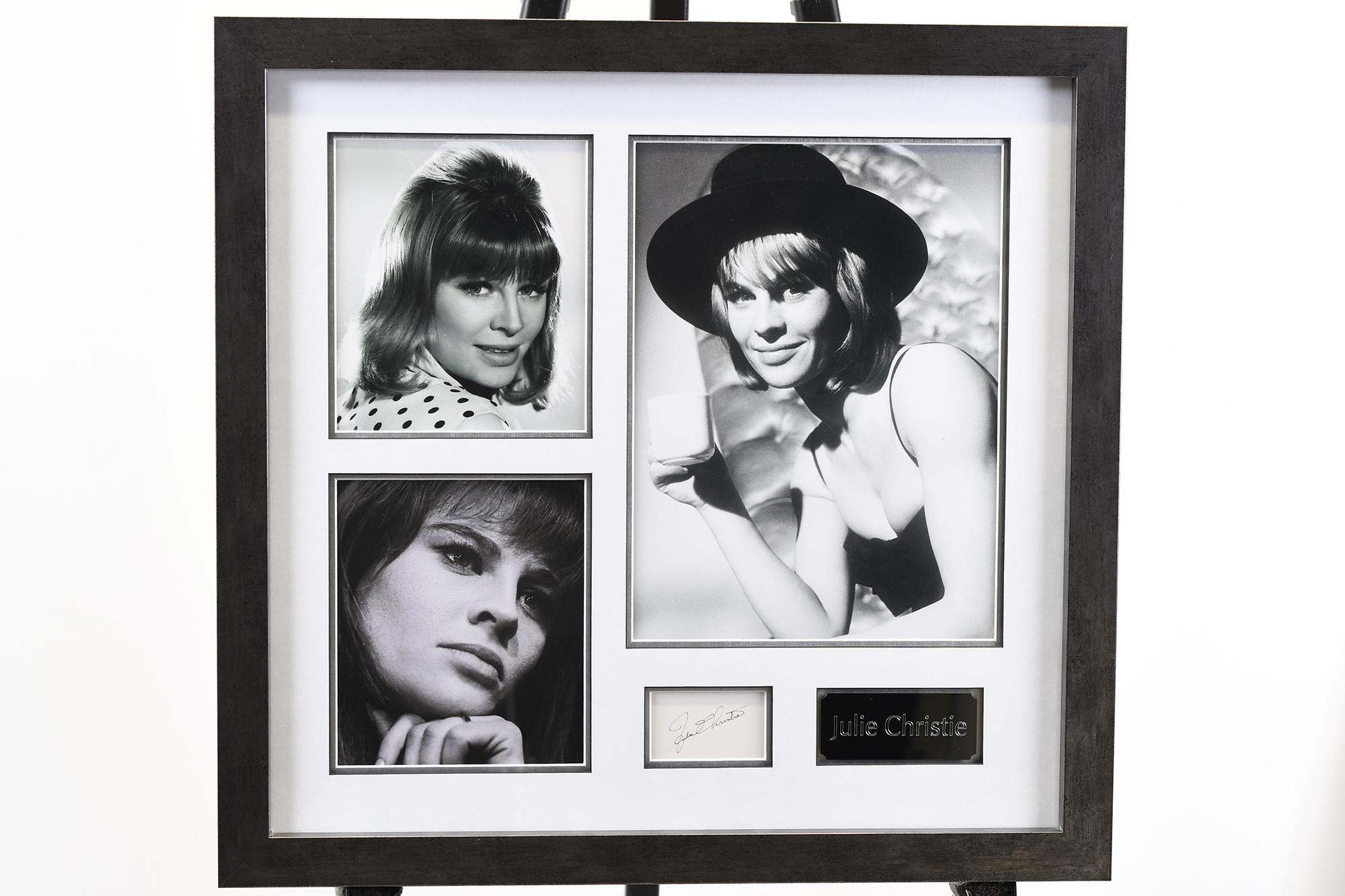 Julie Christie Memorabilia Framed Presentation