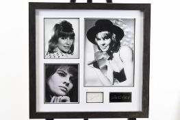 Julie Christie Memorabilia Framed Presentation