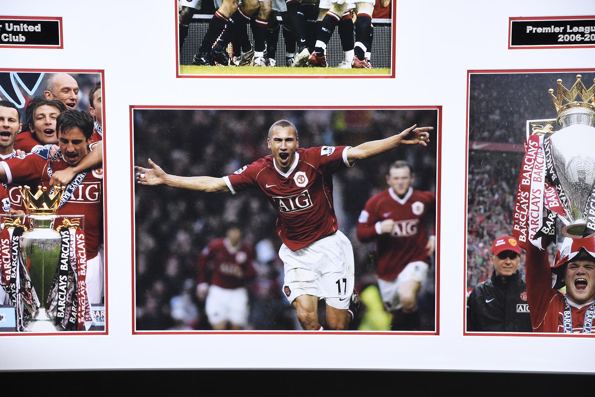 Man Utd Triple Signed Photo Presentation - Image 5 of 5