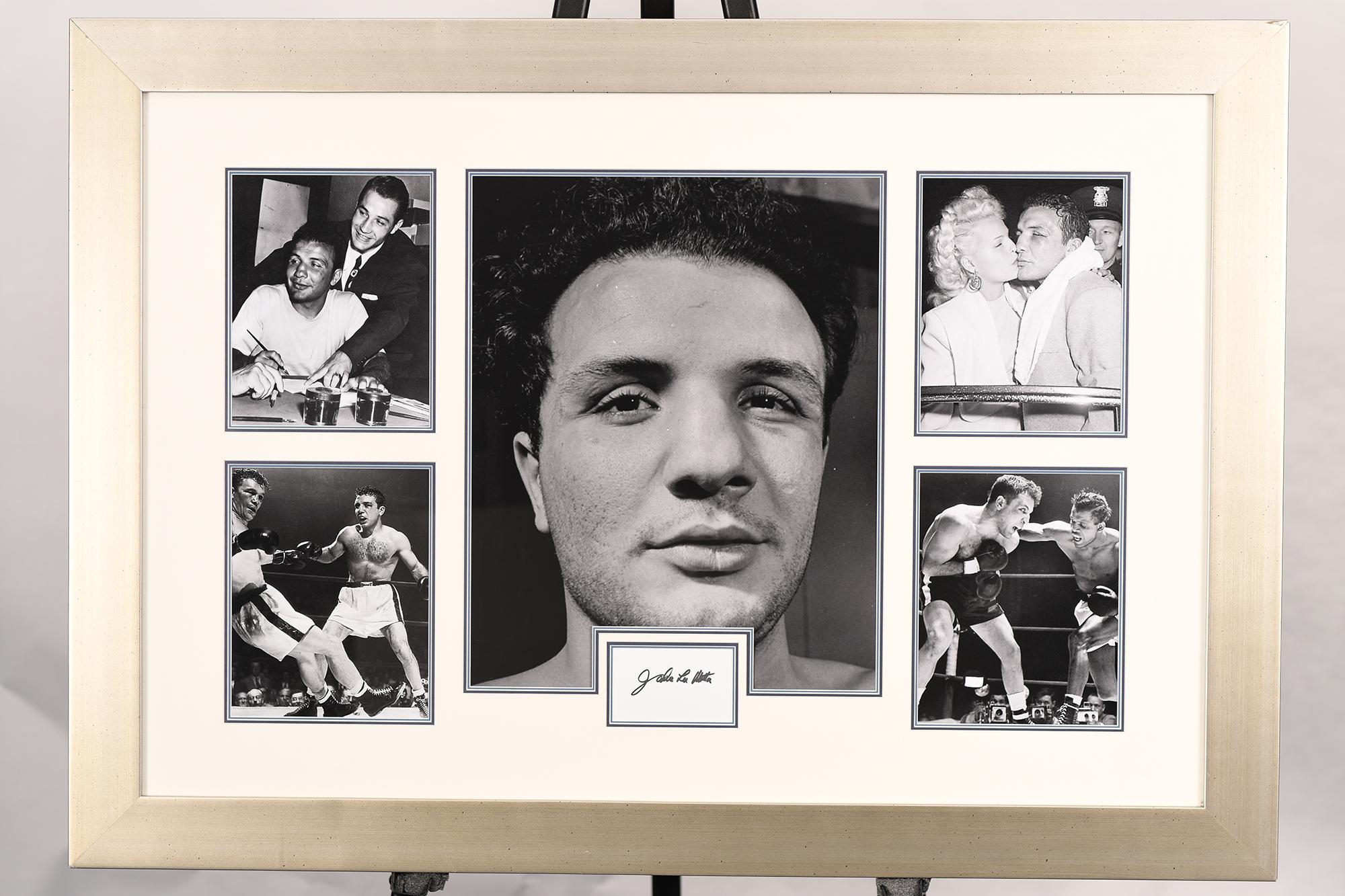 Jake Lamotta Framed Signature Presentation