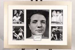 Jake Lamotta Framed Signature Presentation