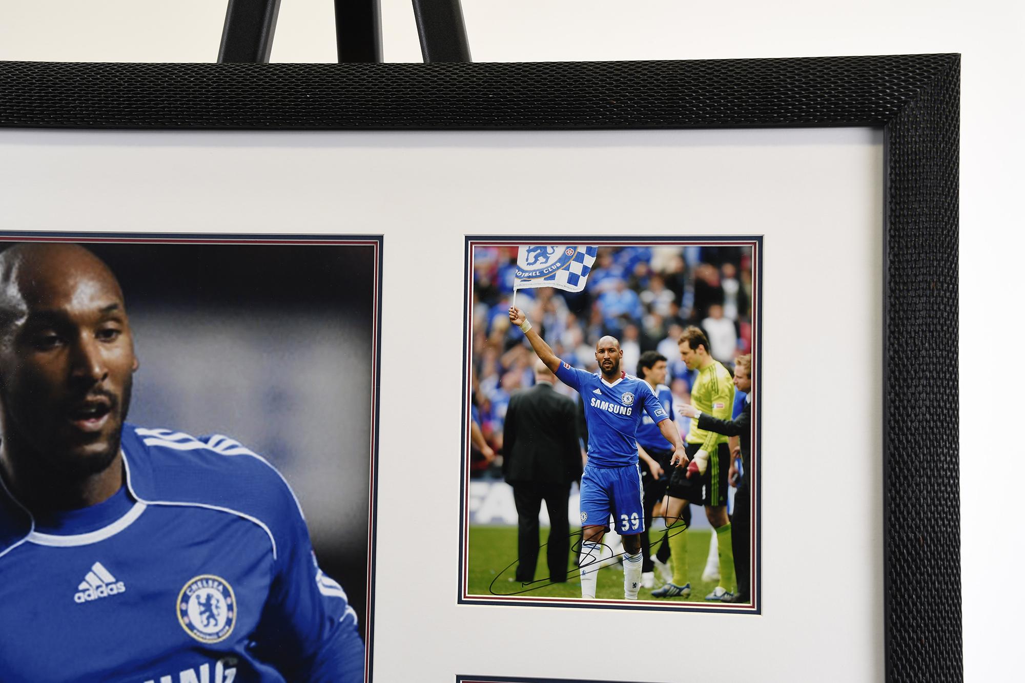 Framed Presentation of Chelsea Footballer Nicolas Anelka. - Image 2 of 4