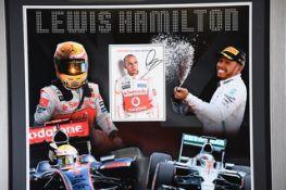Lewis Hamilton Framed Signature Presentation
