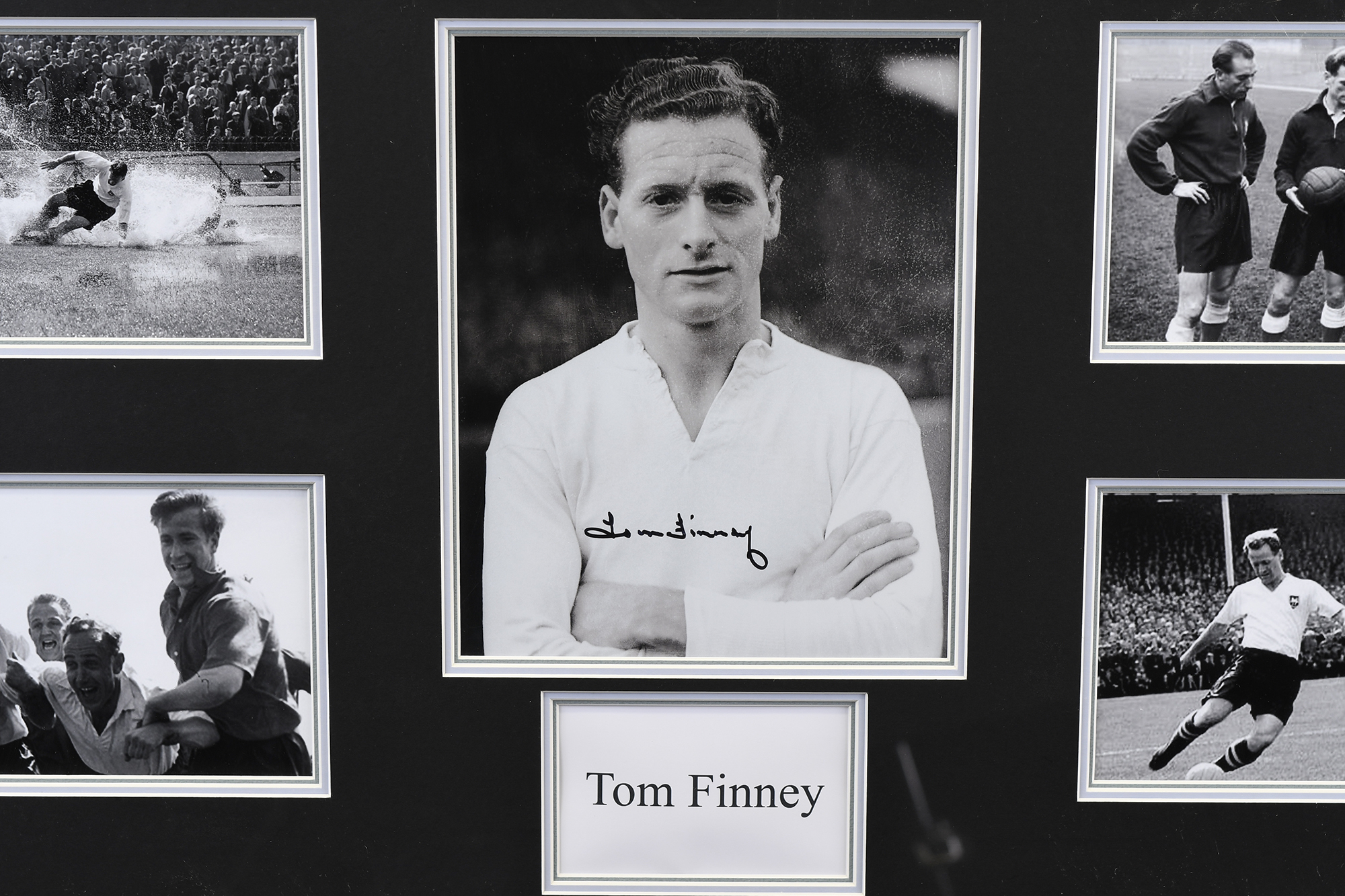 Framed Signed Tom Finney Memorabilia - Image 2 of 5