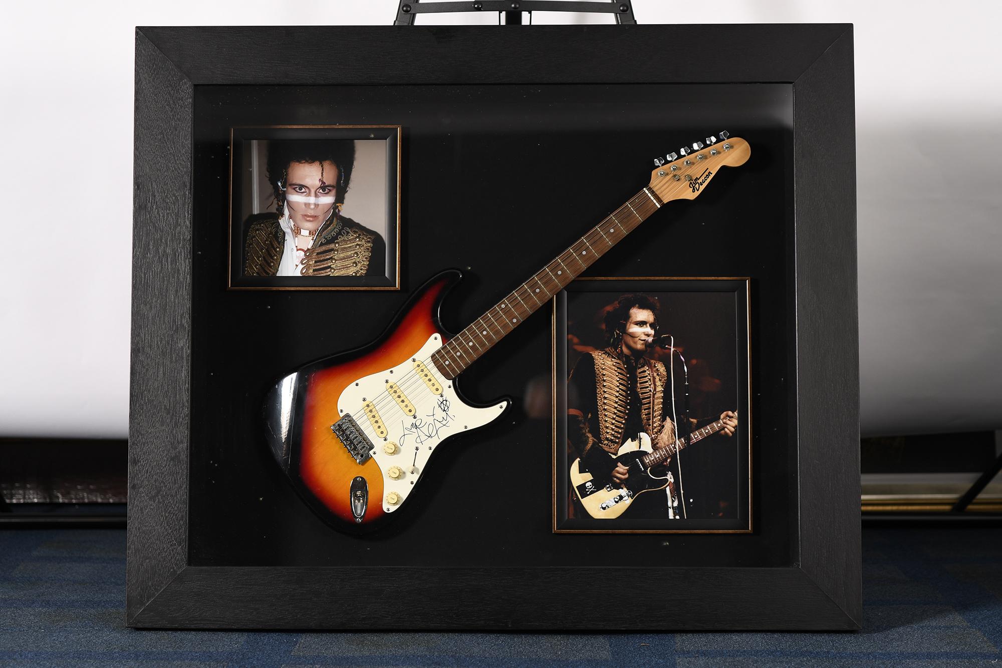 Adam Ant Framed Signed Guitar