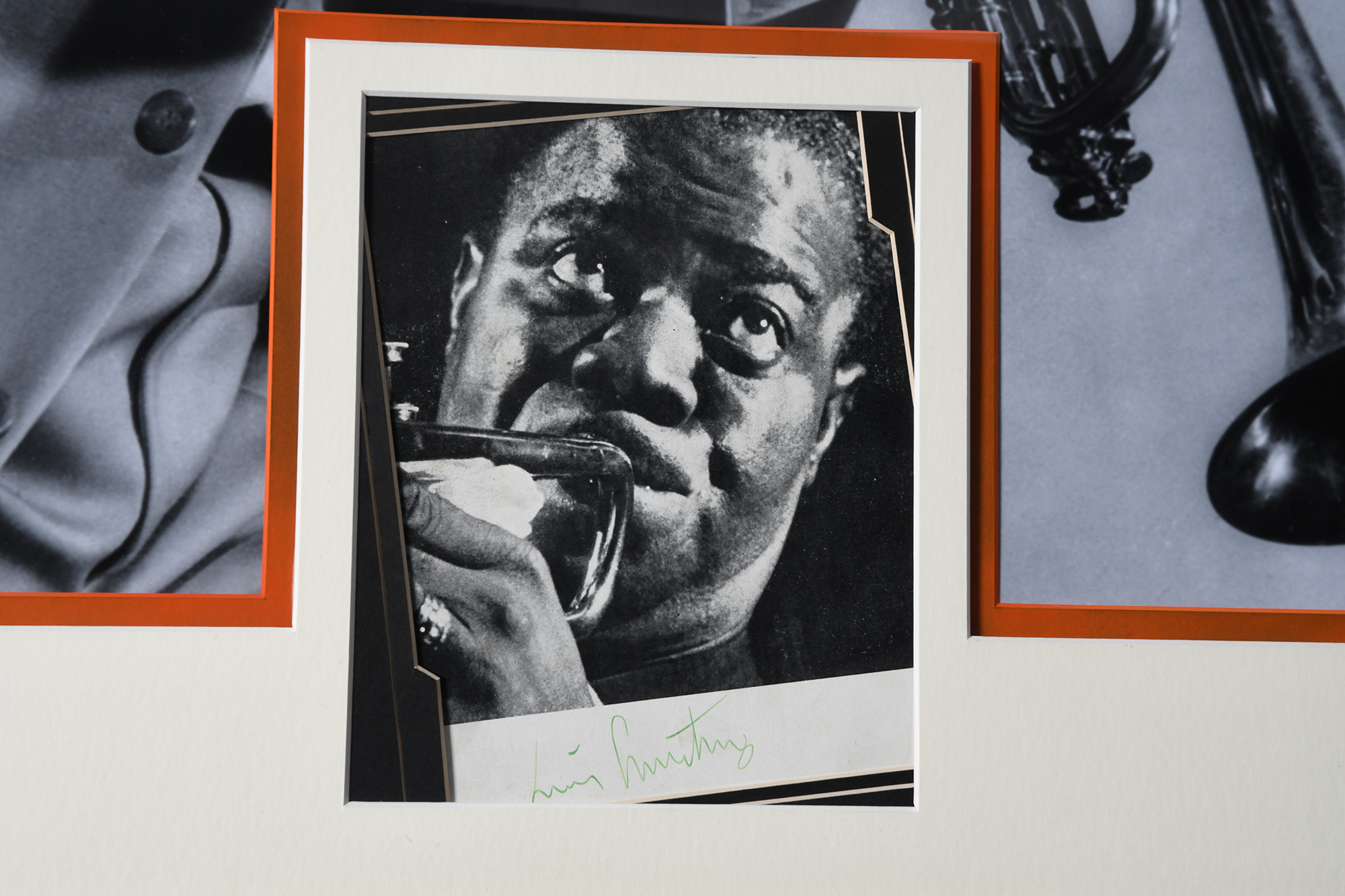 Louis Armstrong Framed Signature Presentation - Image 2 of 2