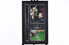Framed Snooker Cue Signed by Ronnie O'Sullivan