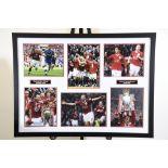 Man Utd Triple Signed Photo Presentation