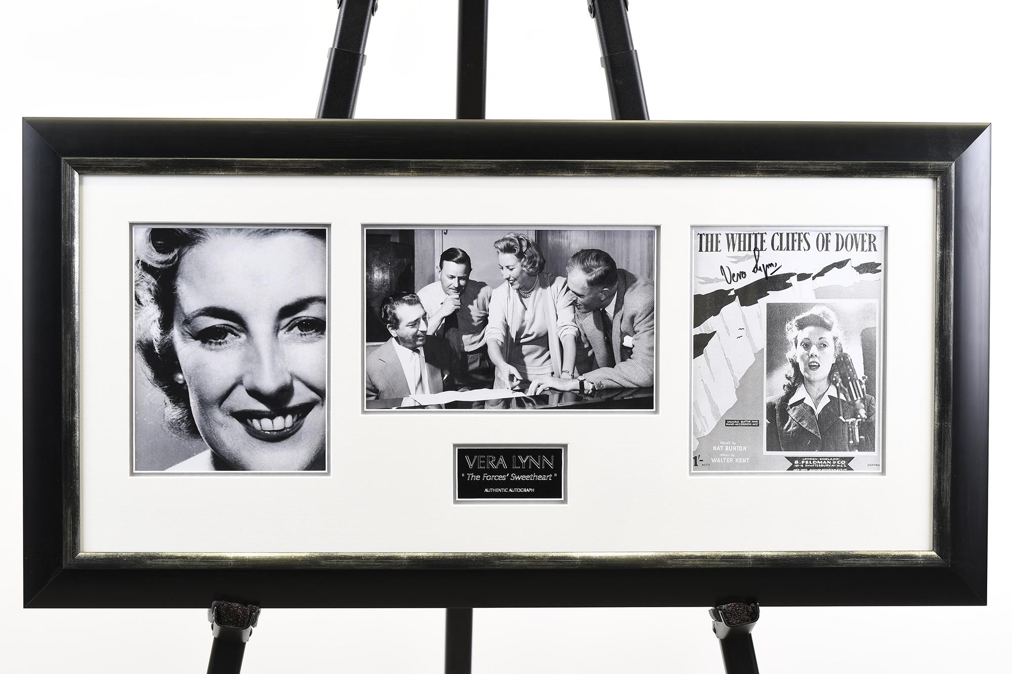 Signed Vera Lynn Framed Memorabilia