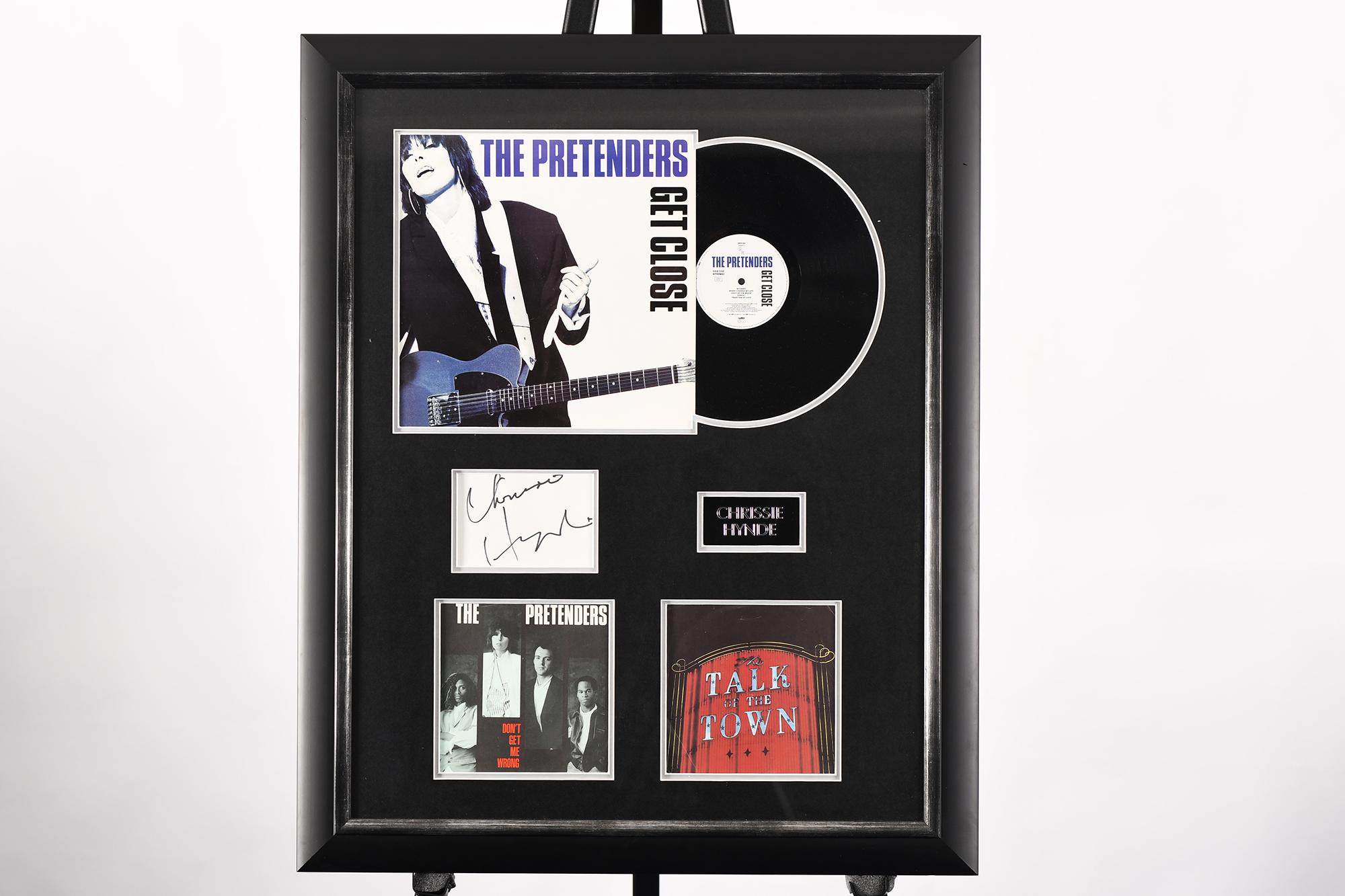 Framed Signed Chrissie Hynde Presentation