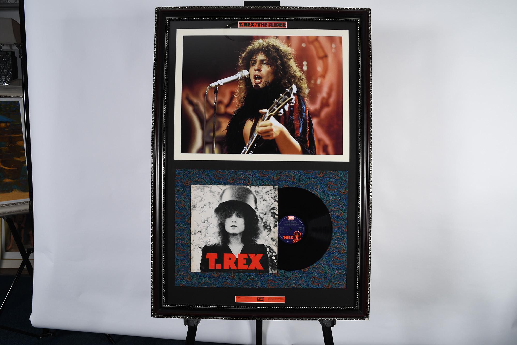 Marc Bolan Framed Signature Presentation