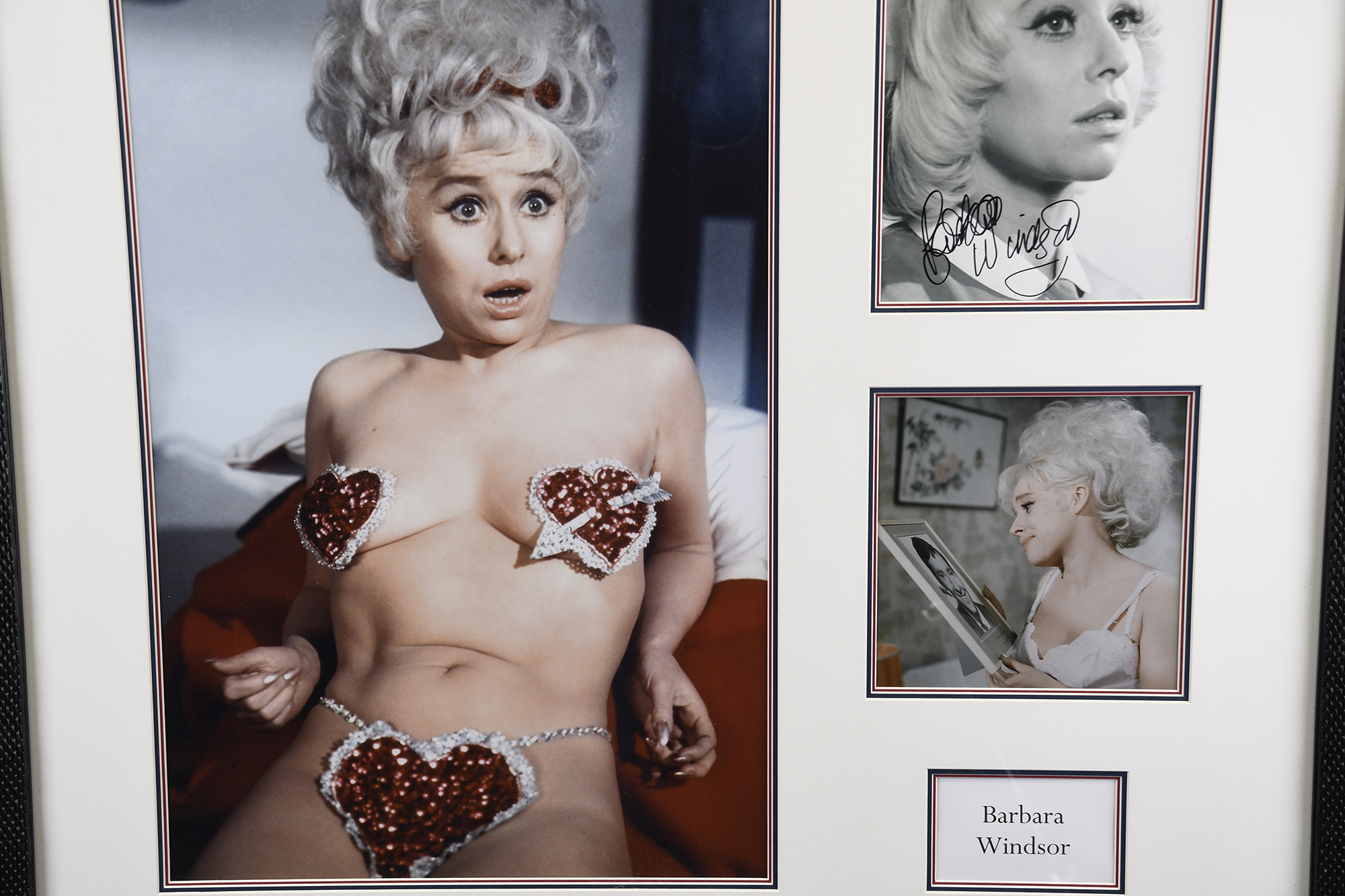 Barbara Windsor Signed Framed Memorabilia - Image 2 of 4