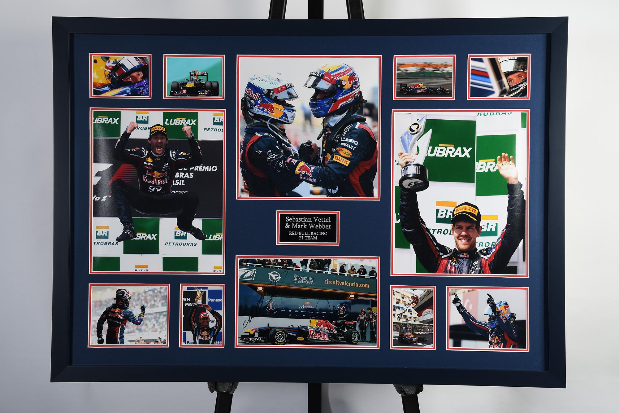 Webber And Vettel Signed Photo Presentation - Image 2 of 2