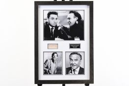 Bob Monkhouse Framed Signature