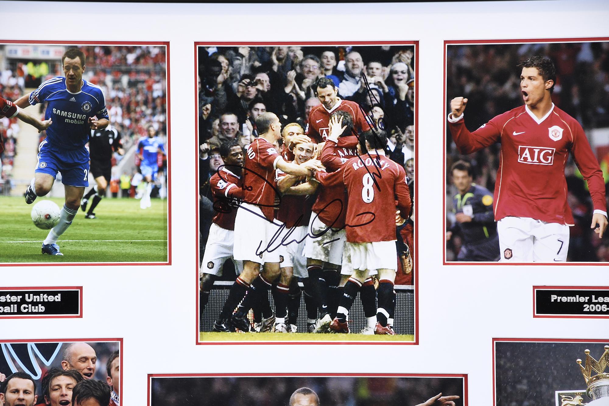 Man Utd Triple Signed Photo Presentation - Image 2 of 5