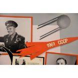 Yuri Gagarin Unique Framed Signature Presentation