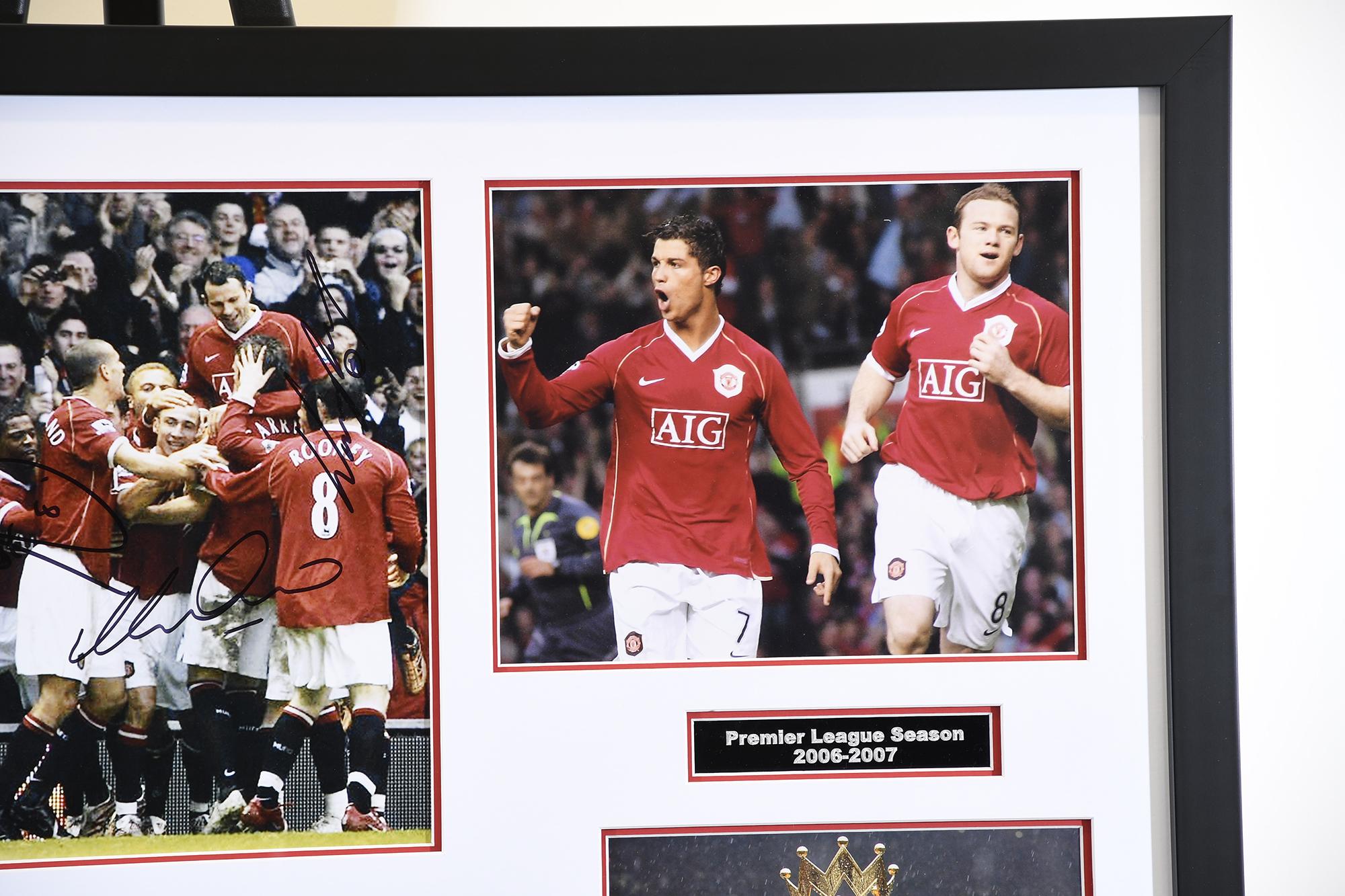 Man Utd Triple Signed Photo Presentation - Image 4 of 5