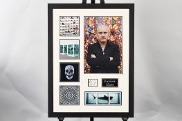 Damien Hurst Framed Signature Presentation