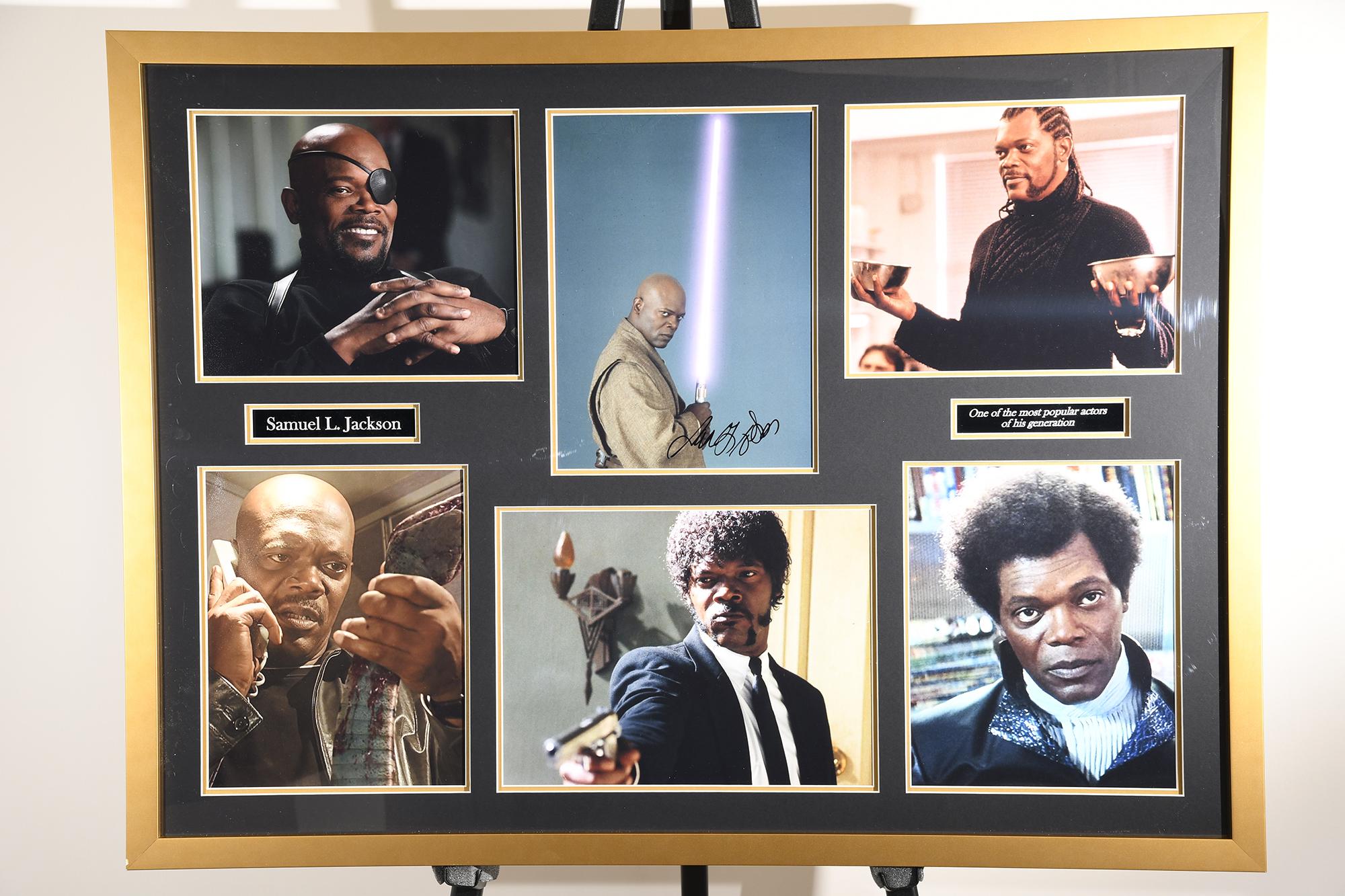 Samuel L Jackson Framed Signature Presentation