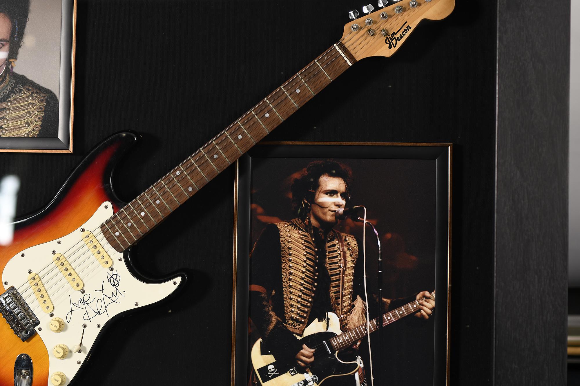 Adam Ant Framed Signed Guitar - Image 4 of 6