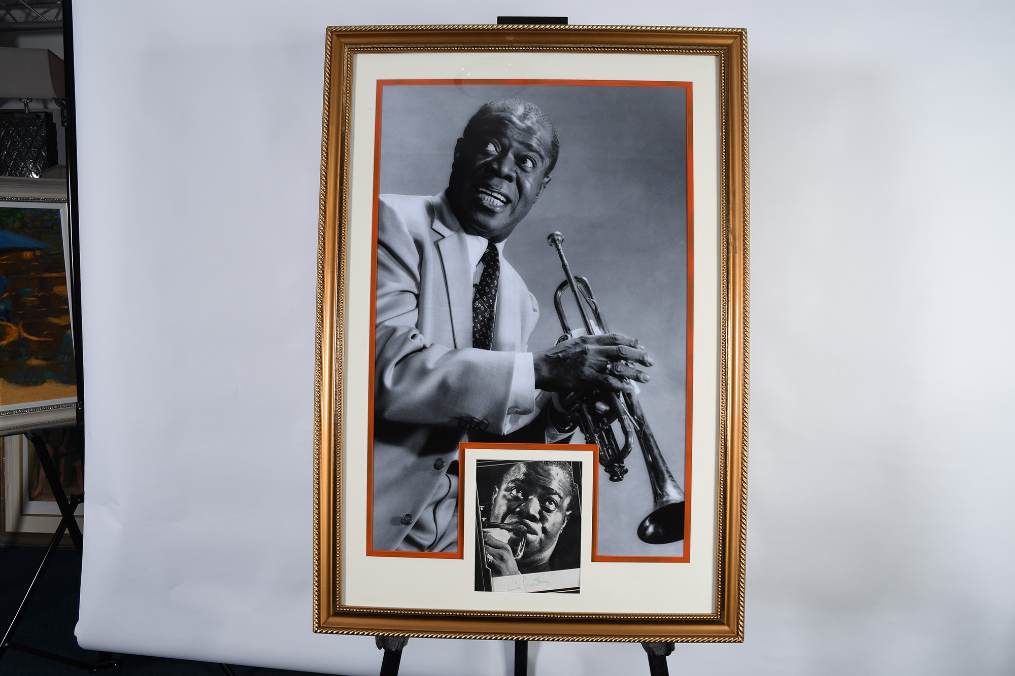Louis Armstrong Framed Signature Presentation