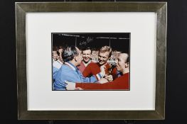 Framed Signed Photo by Nobby Stiles