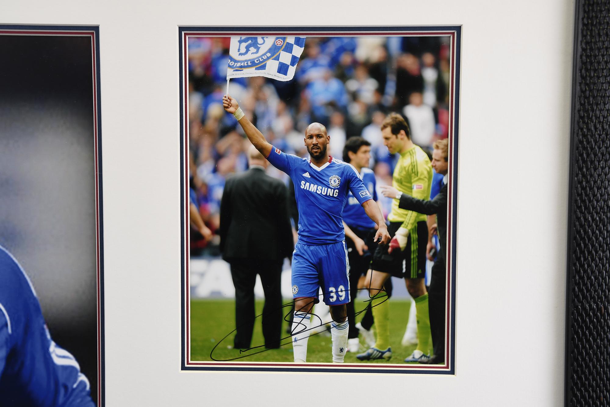 Framed Presentation of Chelsea Footballer Nicolas Anelka. - Image 3 of 4