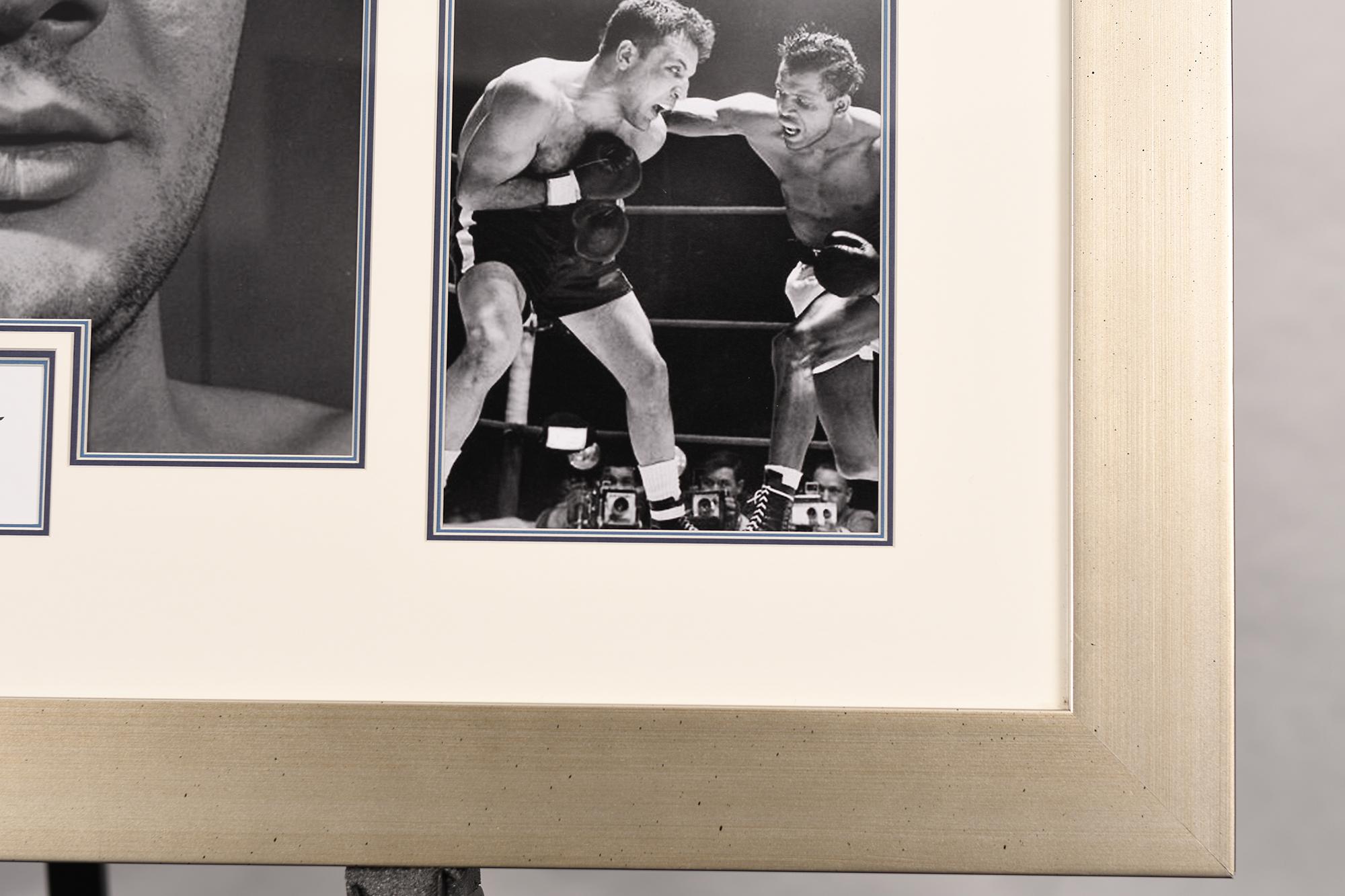Jake Lamotta Framed Signature Presentation - Image 4 of 4