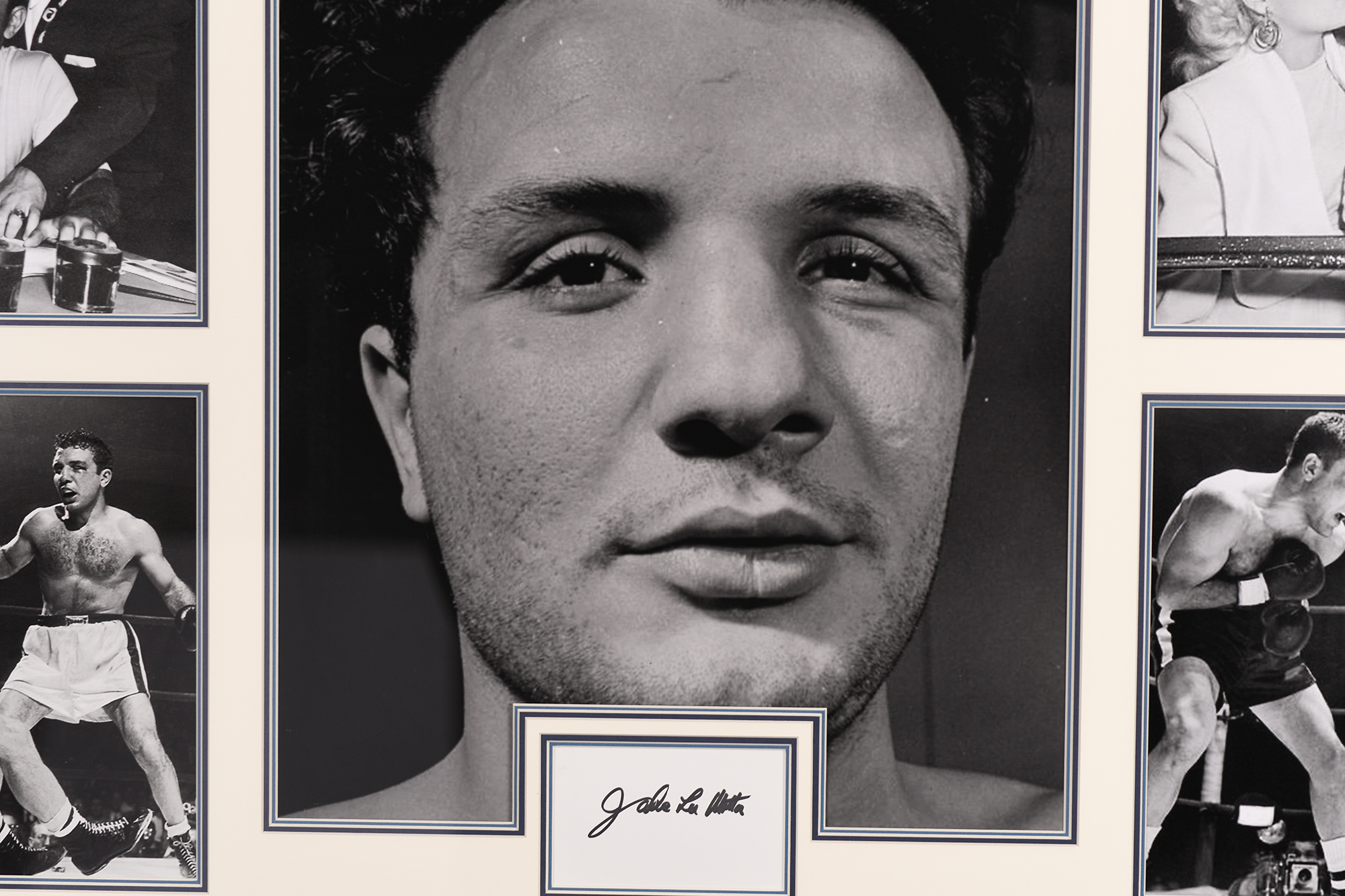 Jake Lamotta Framed Signature Presentation - Image 3 of 4