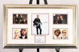 Dave Stewart Framed Signature Presentation