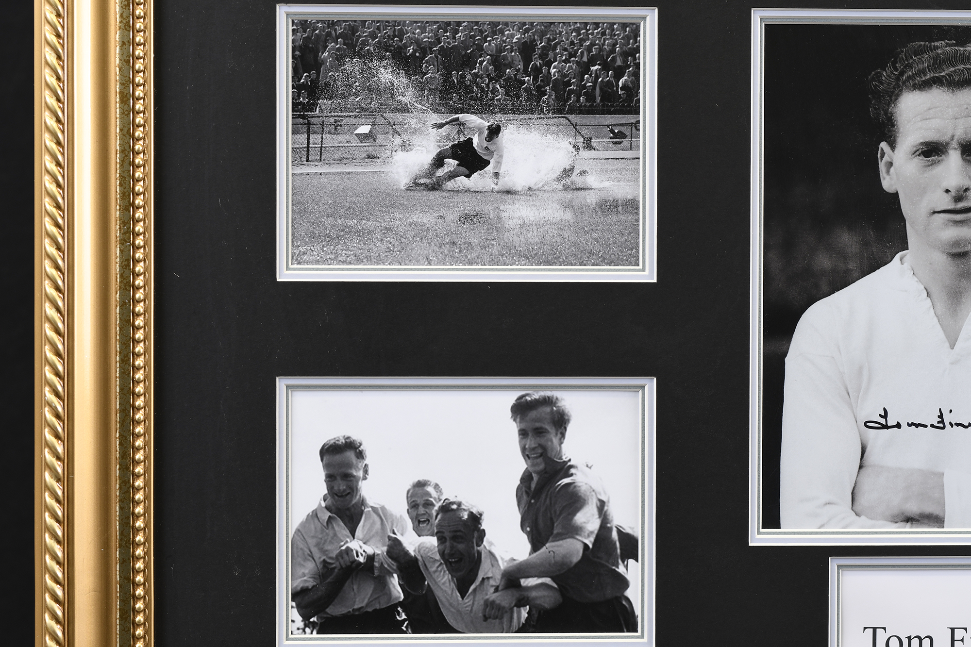 Framed Signed Tom Finney Memorabilia - Image 5 of 5