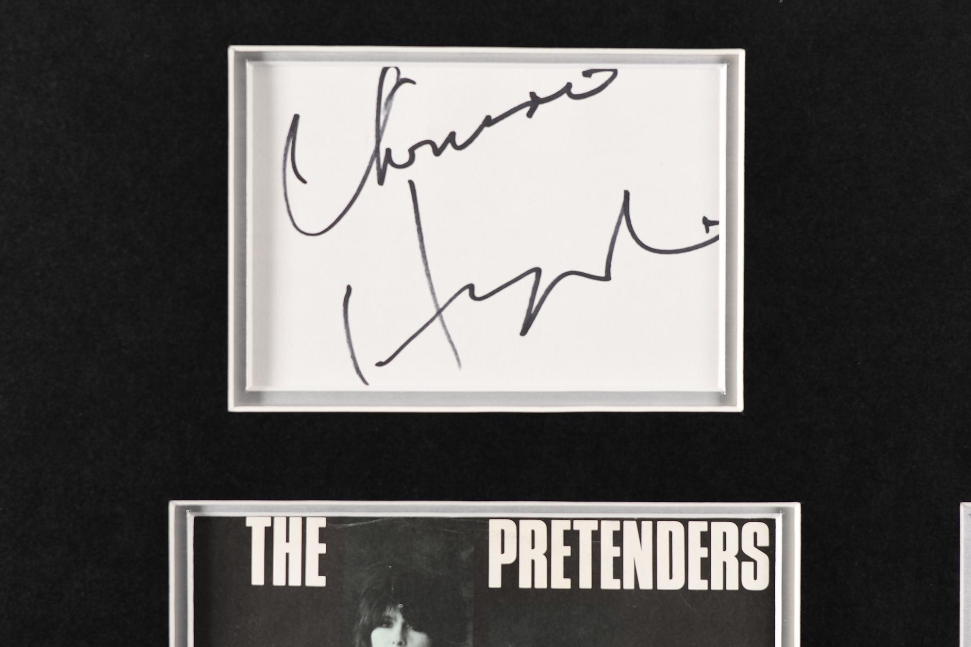 Framed Signed Chrissie Hynde Presentation - Image 3 of 4