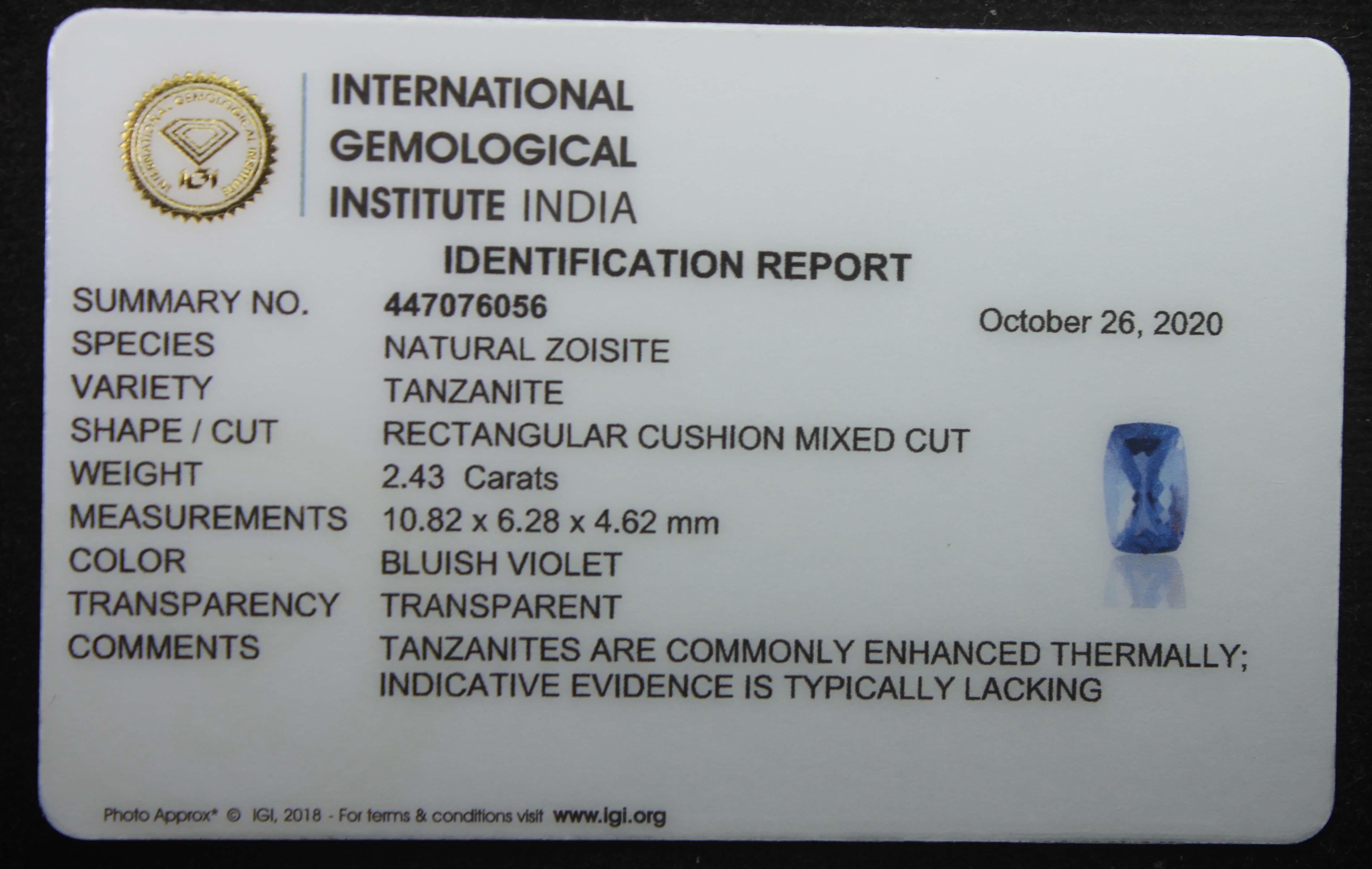 Tanzanite, 2.43 Ct - Image 5 of 5