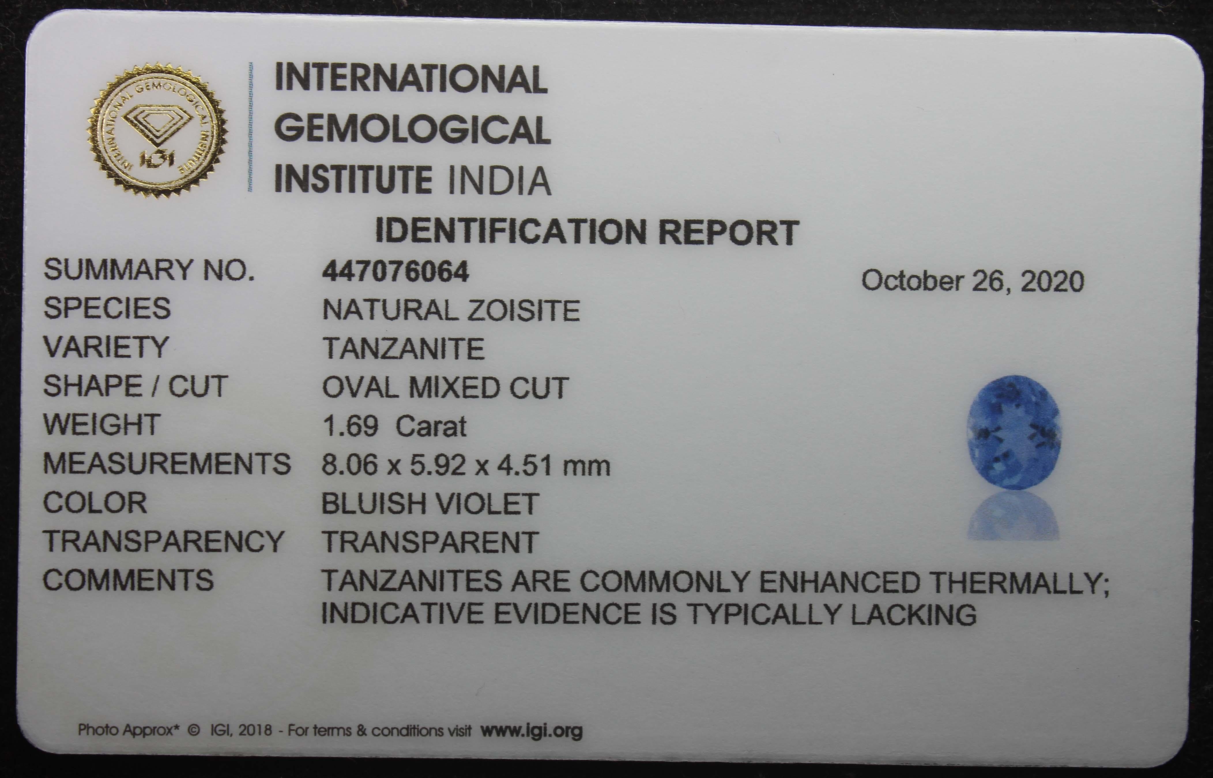 Tanzanite, 1.69 Ct - Image 5 of 5