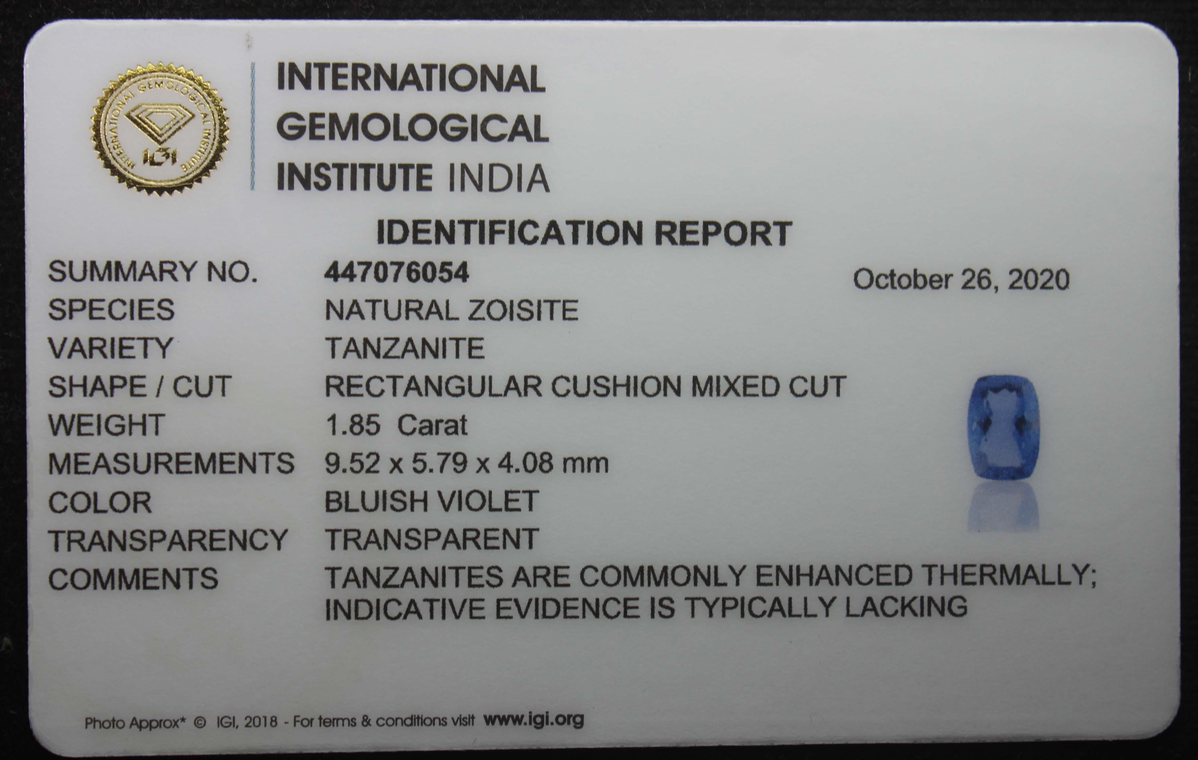 Tanzanite, 1.85 Ct - Image 5 of 5