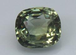 Green Sapphire, 1.08 Ct - unheated