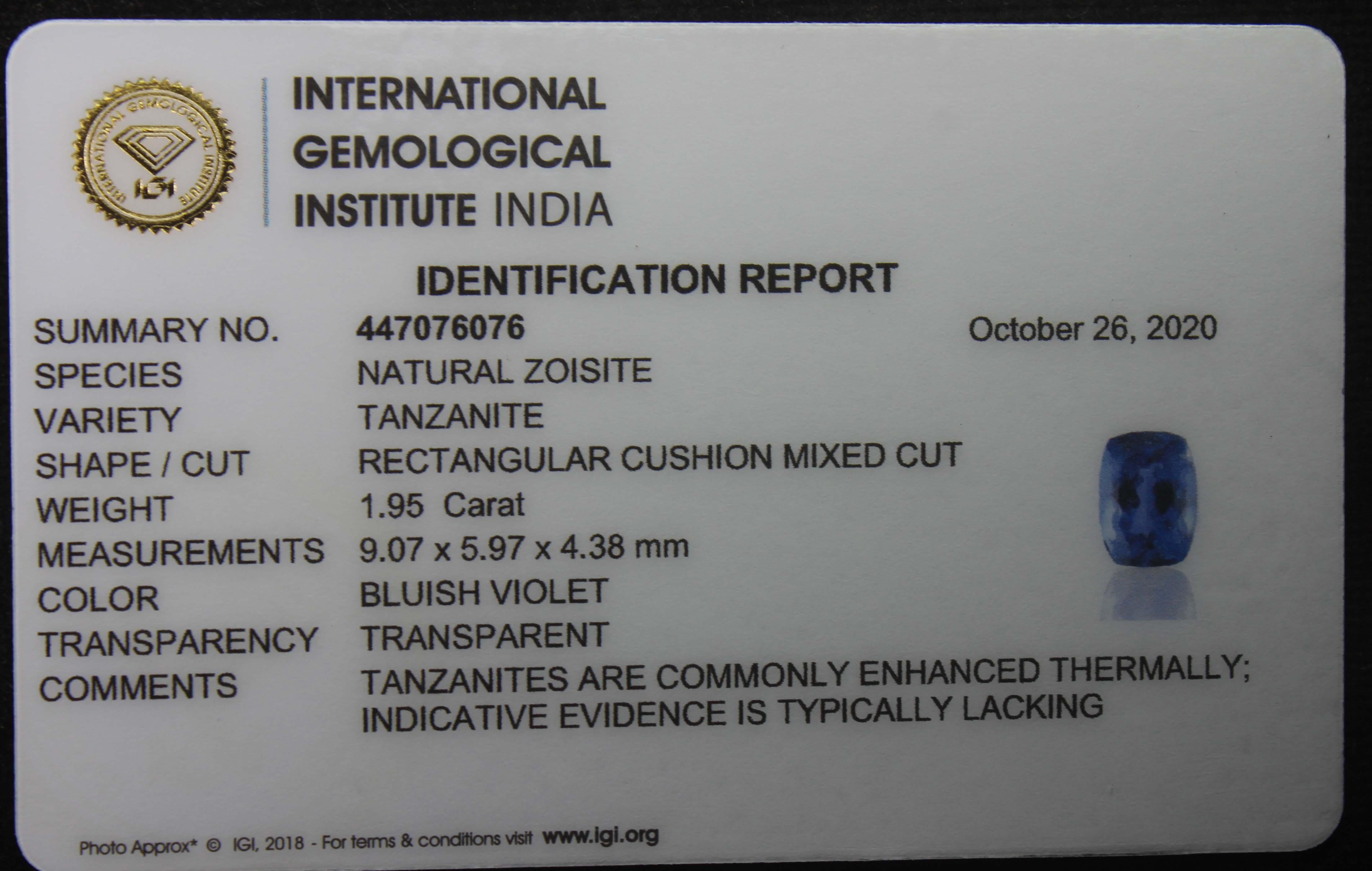 Tanzanite, 1.95 Ct - Image 5 of 5