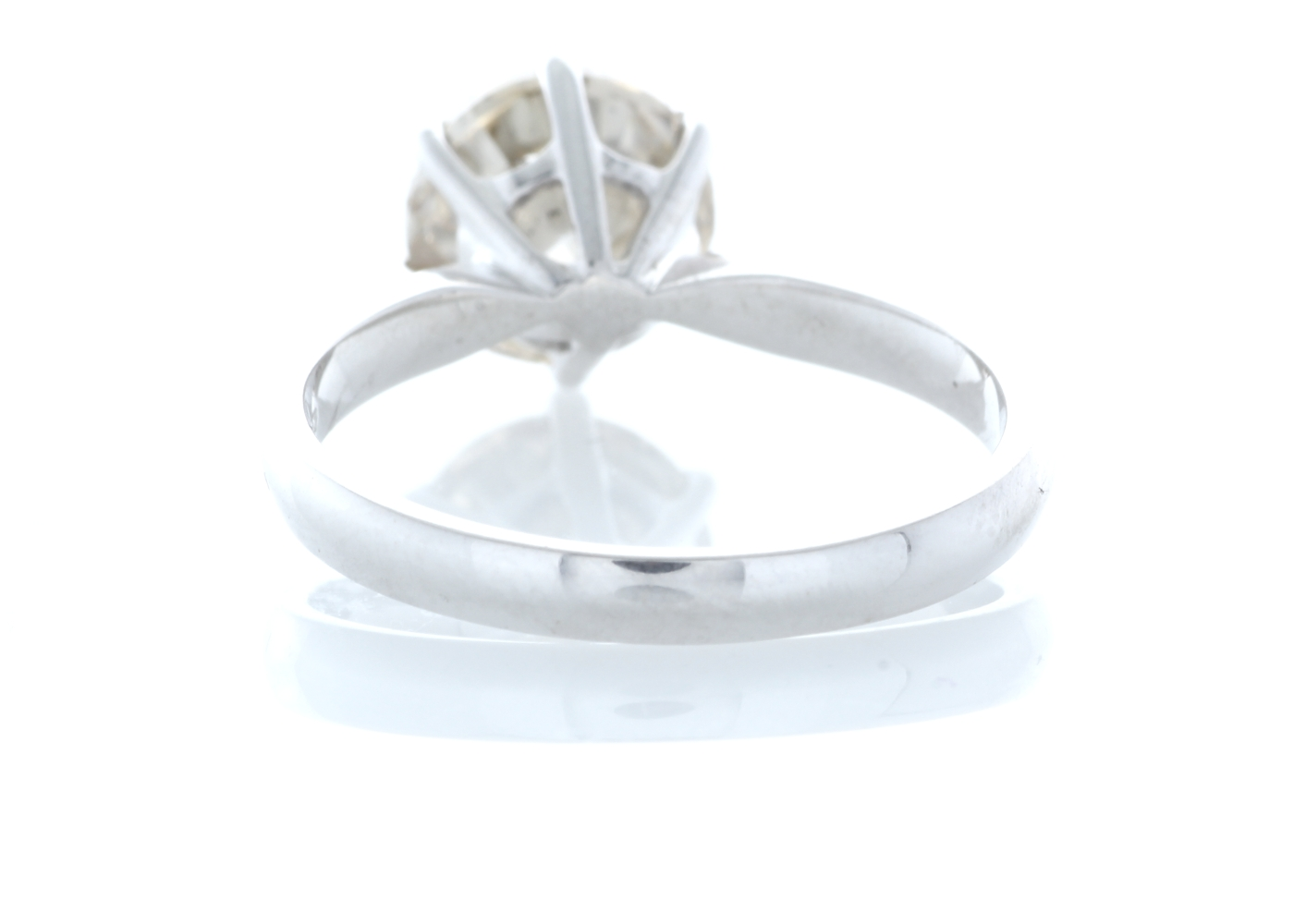 18ct White Gold Single Stone Claw Set Diamond Ring 2.58 Carats - Image 3 of 5