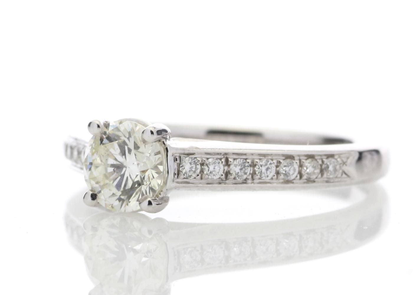 18ct White Gold Single Stone Claw Set Diamond Ring 0.73 Carats - Image 2 of 4